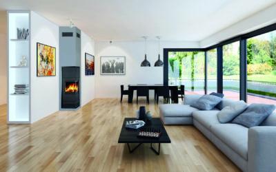 Mehr Design, mehr Platz: Schornstein mit integriertem Kaminofen