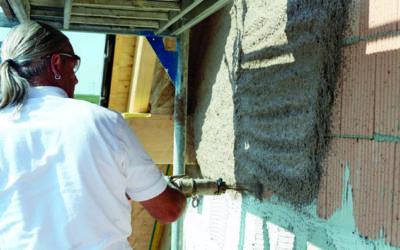 Schlanke Steine mit Leichtputzen besser verputzen