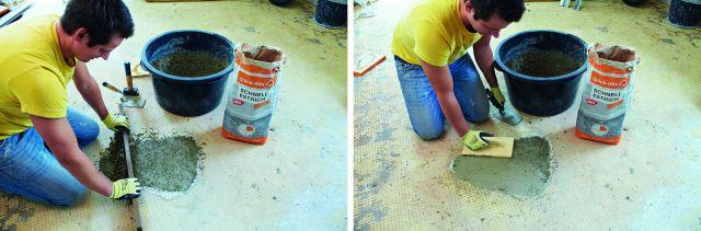 Fußbodensanierung mit Schnellestrich