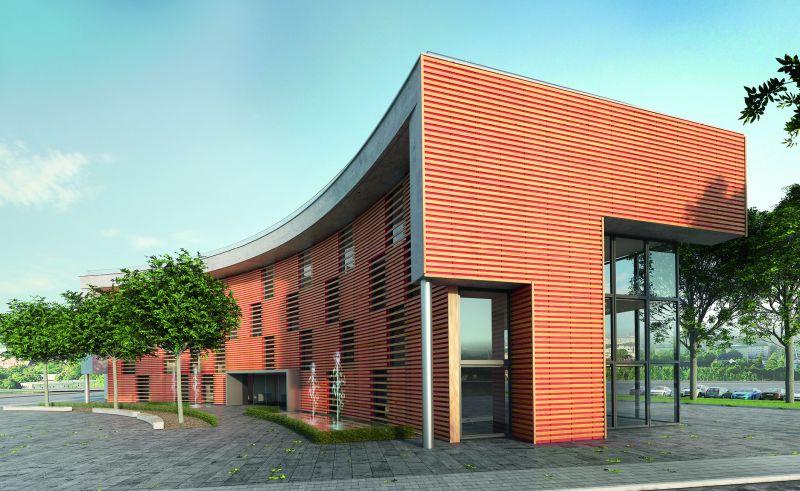 Eine 3D-Fassade minimiert durch die Hinterlüftung das Schimmelrisiko