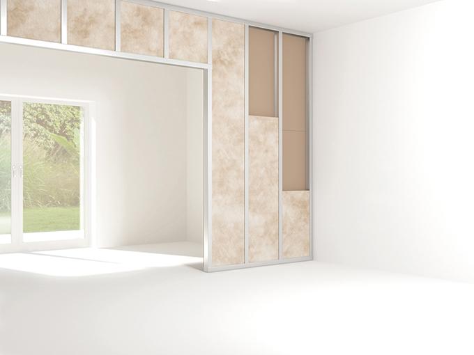 Trennwände mit speziellem Dämmsystem schaffen einen neuen separaten Wohnbereich im Eigenheim.