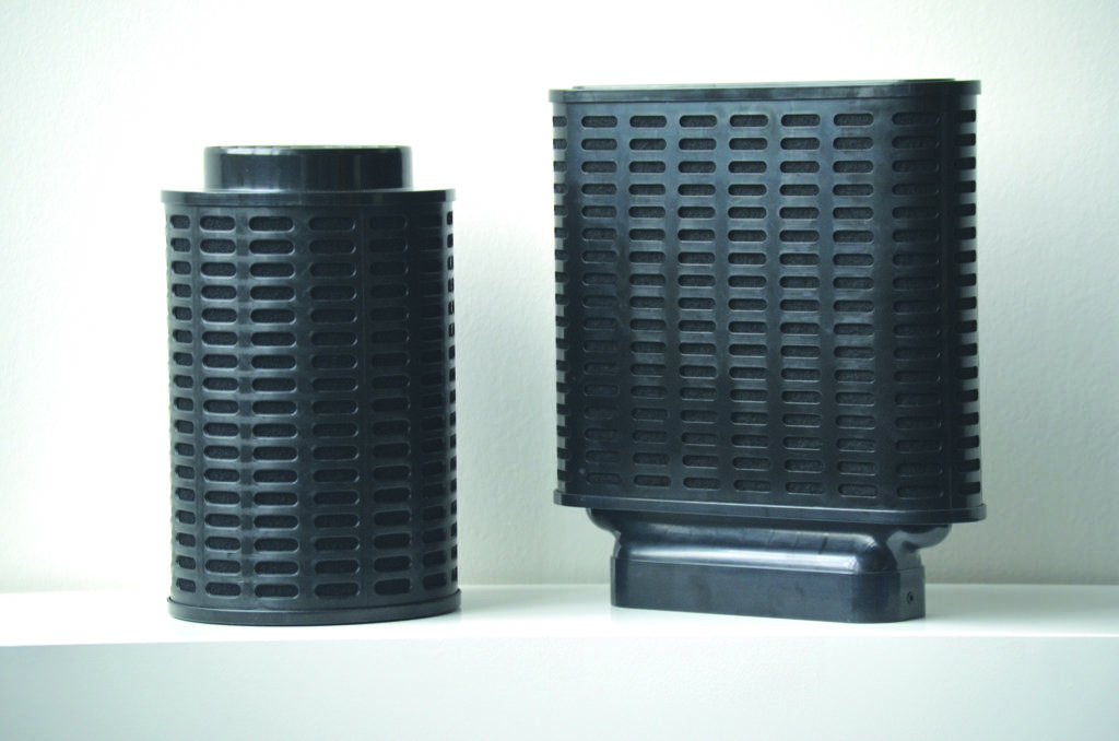 Schwarze Plasma-Filter (Ablufthauben)