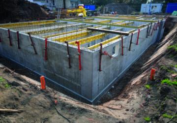 Neubau mit Keller: Rohbau eines Kellers
