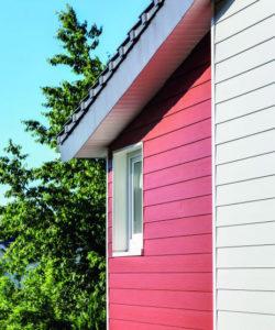 Bunte Hausfassade (Wertbeständige Fassadengestaltung).